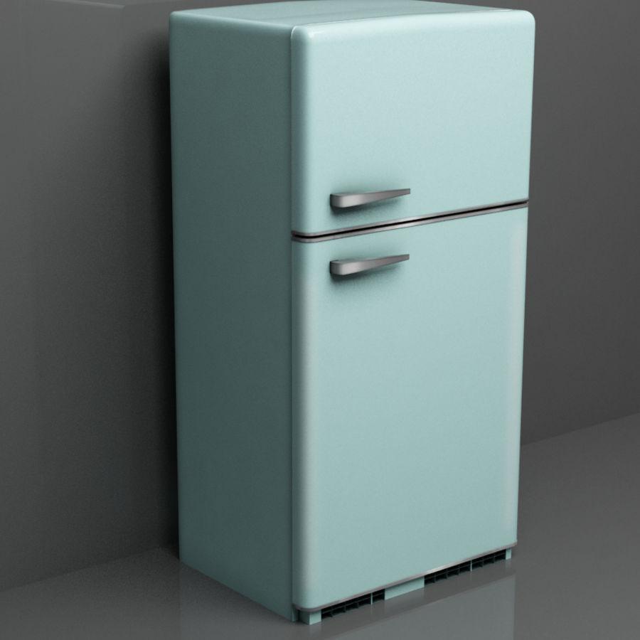 Retro Fridge royalty-free 3d model - Preview no. 1