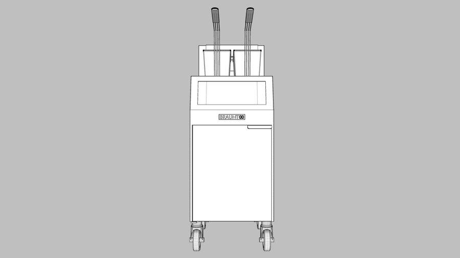 Ristorante Friggitrice royalty-free 3d model - Preview no. 14