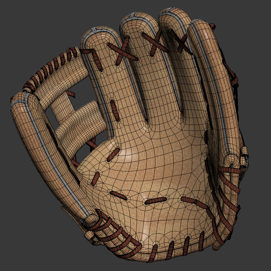 Baseball Glove Pack royalty-free 3d model - Preview no. 6