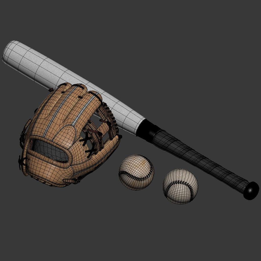 Baseball Glove Pack royalty-free 3d model - Preview no. 3