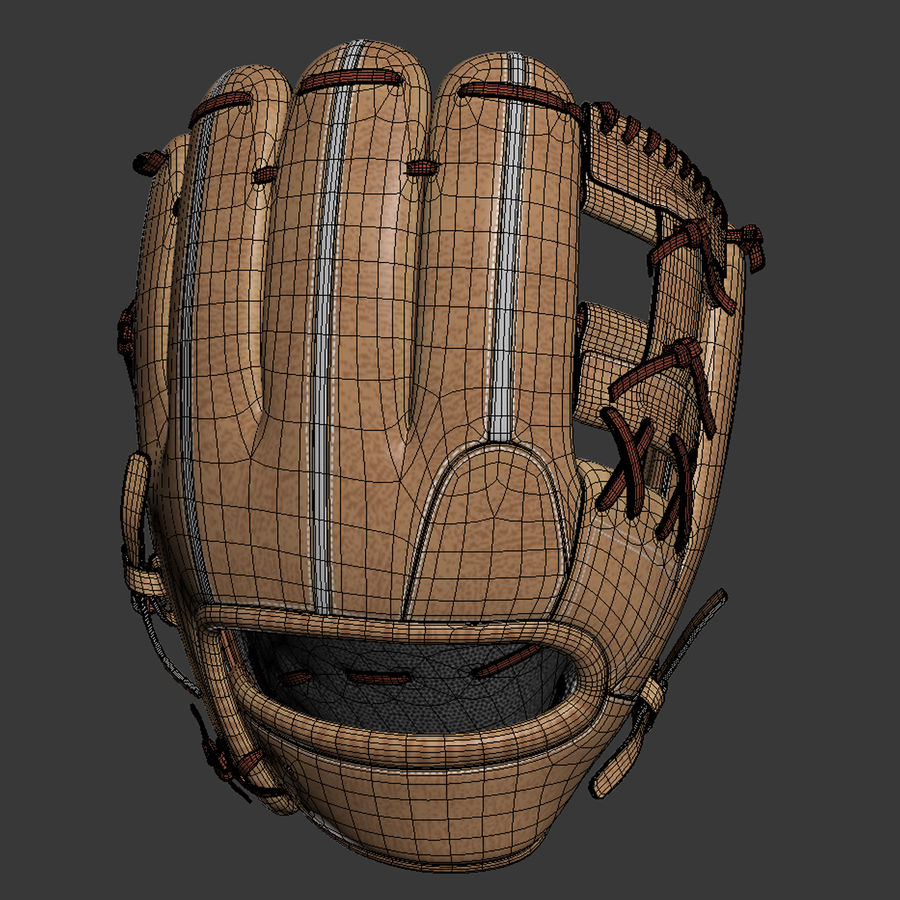 Baseball Glove Pack royalty-free 3d model - Preview no. 5
