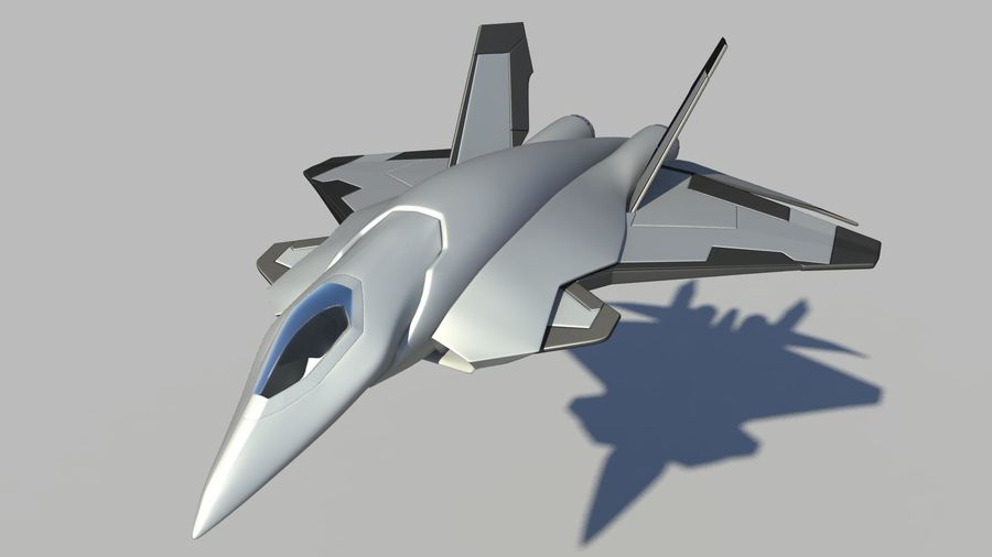 Jet Concept Aircraft royalty-free 3d model - Preview no. 3