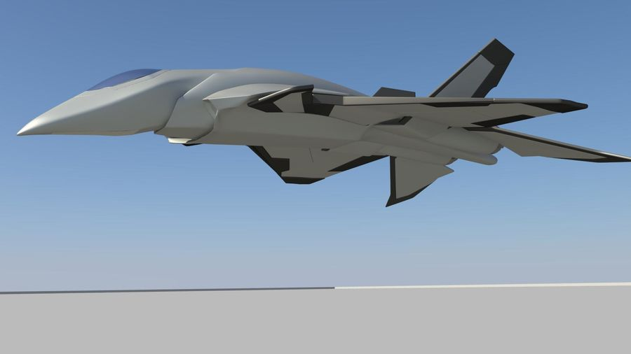 Jet Concept Aircraft royalty-free 3d model - Preview no. 4