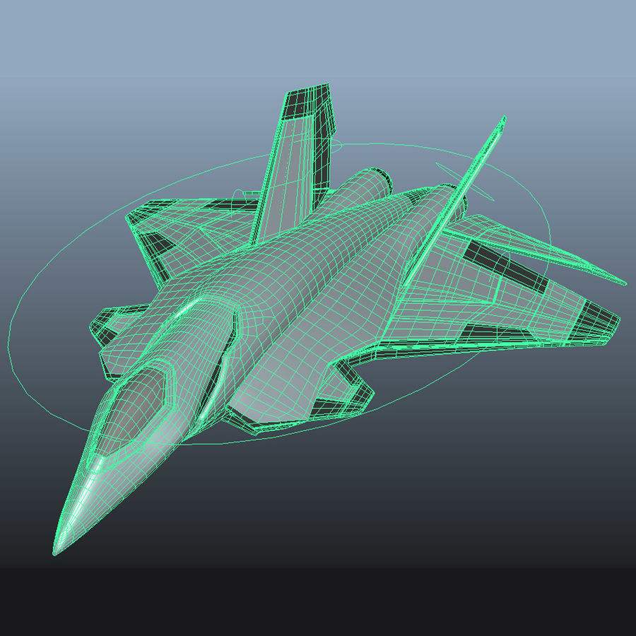 Jet Concept Aircraft royalty-free 3d model - Preview no. 6