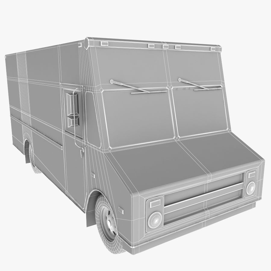 UPS Truck royalty-free 3d model - Preview no. 10