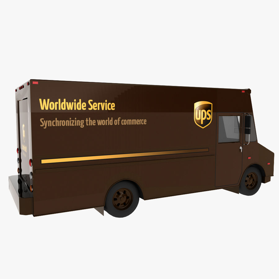 UPS Truck royalty-free 3d model - Preview no. 6