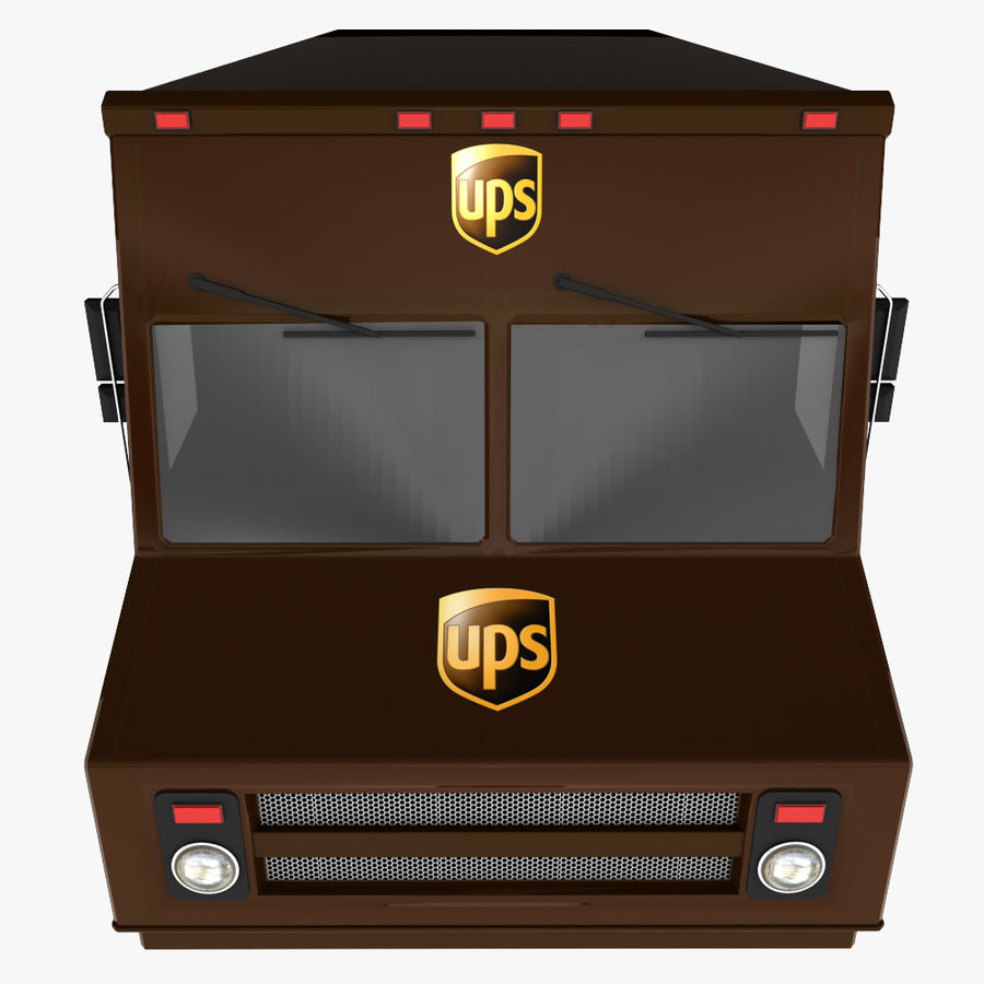 UPS Truck royalty-free 3d model - Preview no. 8