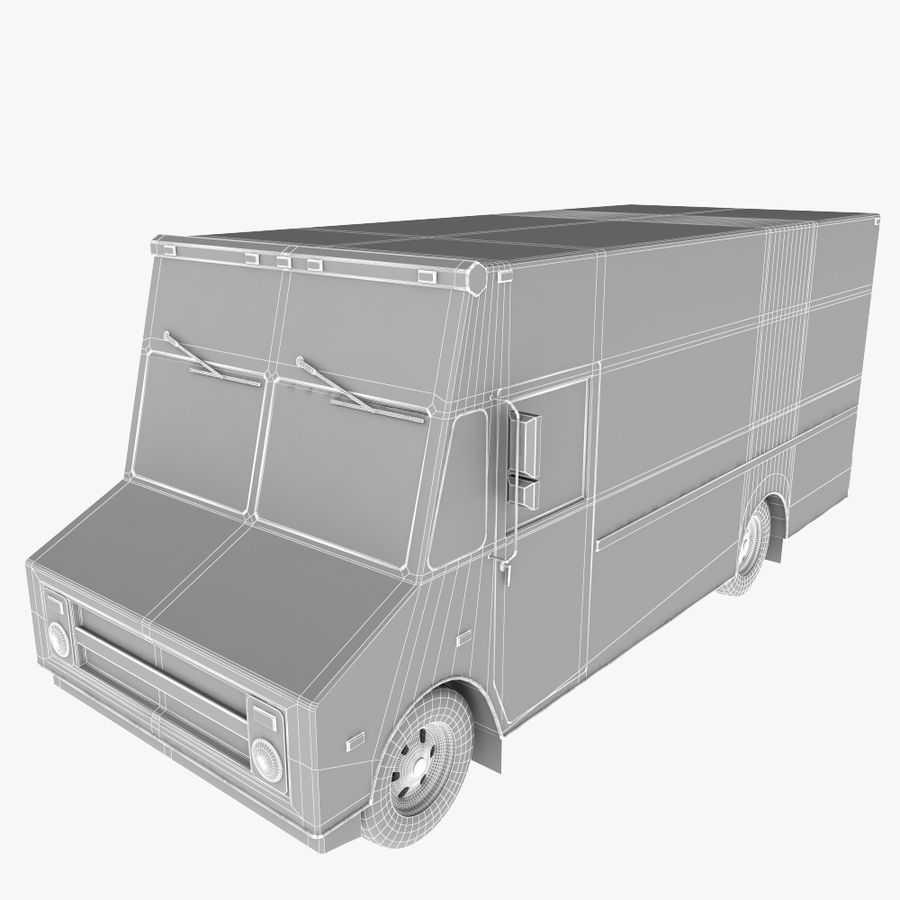 UPS Truck royalty-free 3d model - Preview no. 11