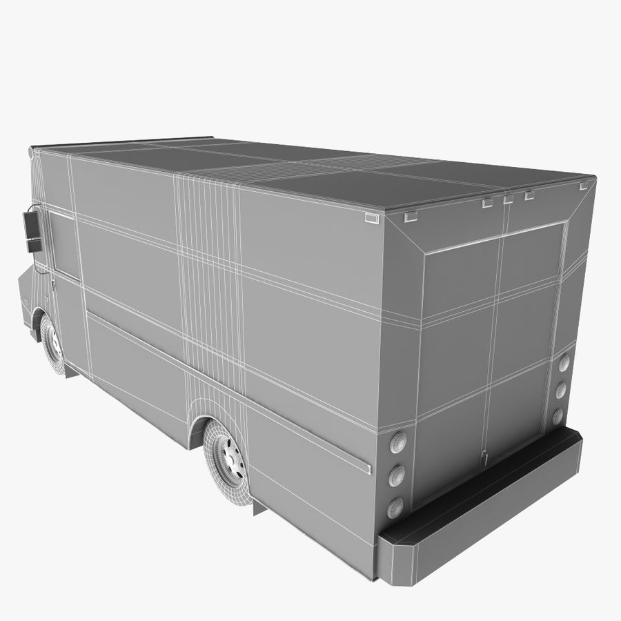 UPS Truck royalty-free 3d model - Preview no. 12