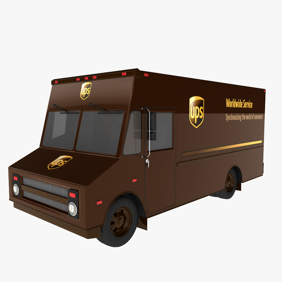 UPS Truck royalty-free 3d model - Preview no. 1