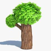 Cartoon Tall Tree 3d model