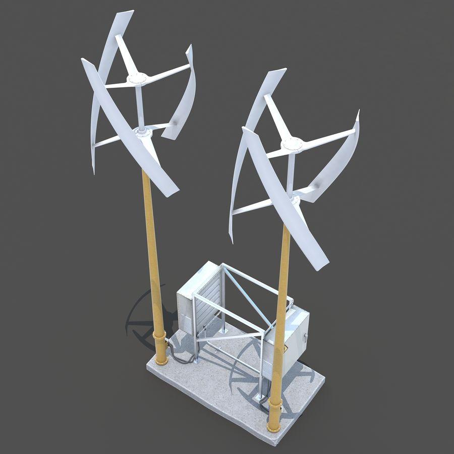 Windgenerator royalty-free 3d model - Preview no. 3