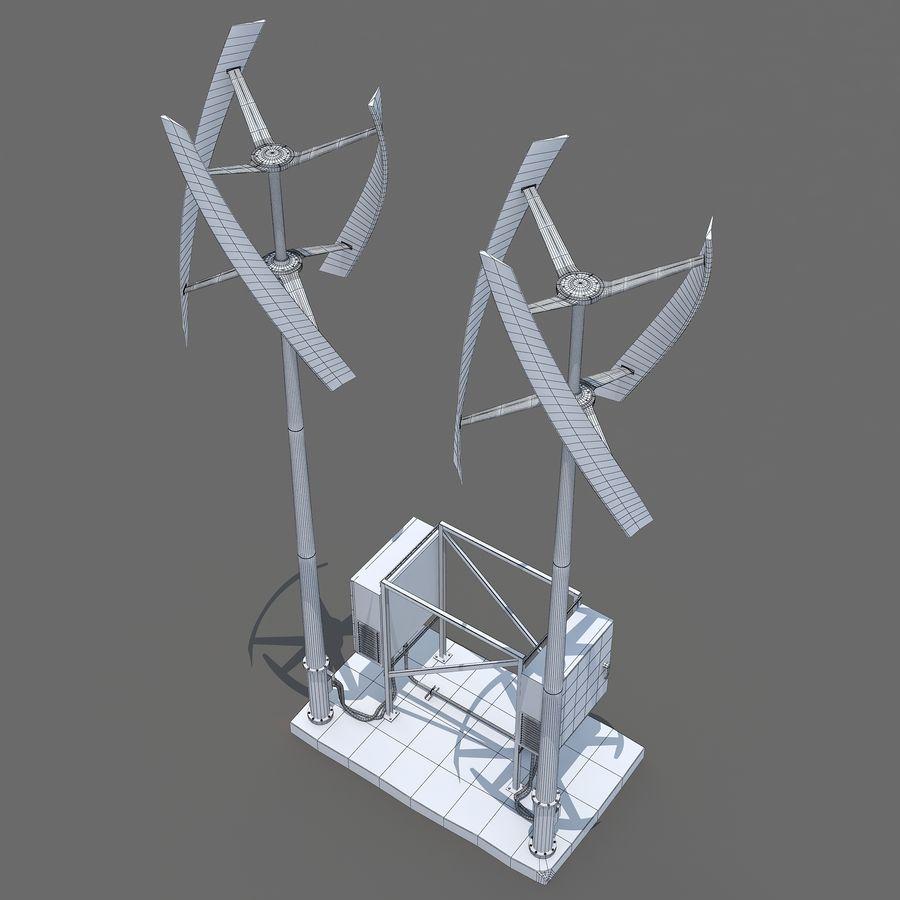 Windgenerator royalty-free 3d model - Preview no. 8