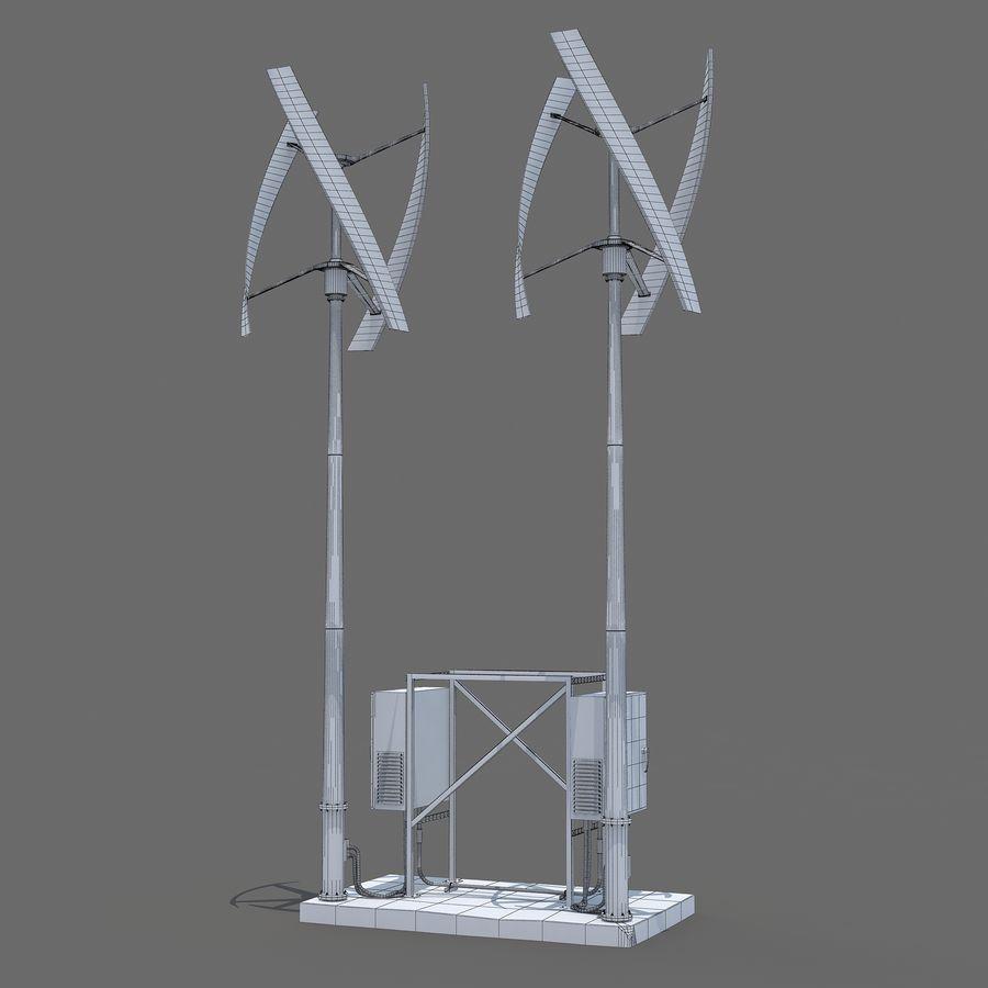 Windgenerator royalty-free 3d model - Preview no. 6