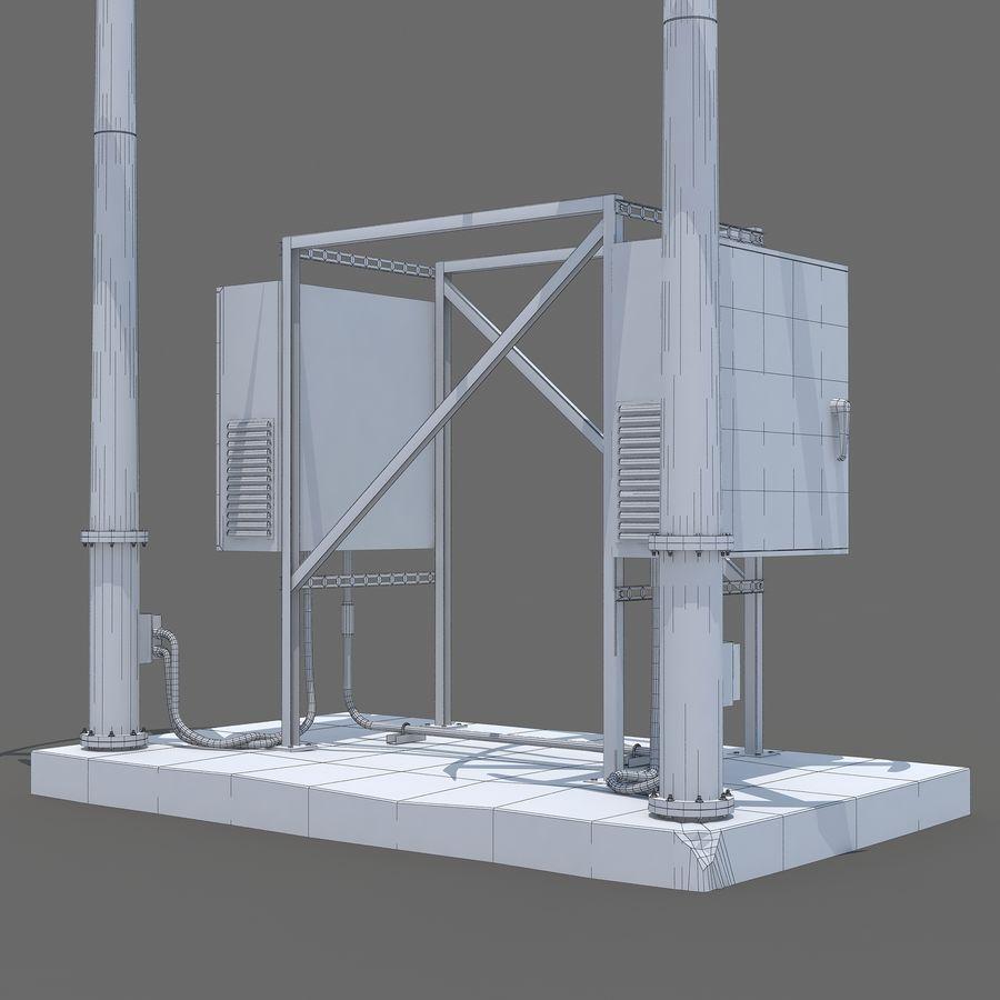 Windgenerator royalty-free 3d model - Preview no. 7