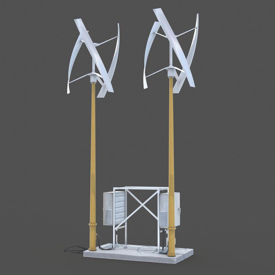 Windgenerator royalty-free 3d model - Preview no. 1