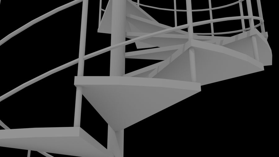 Scala a chiocciola royalty-free 3d model - Preview no. 6