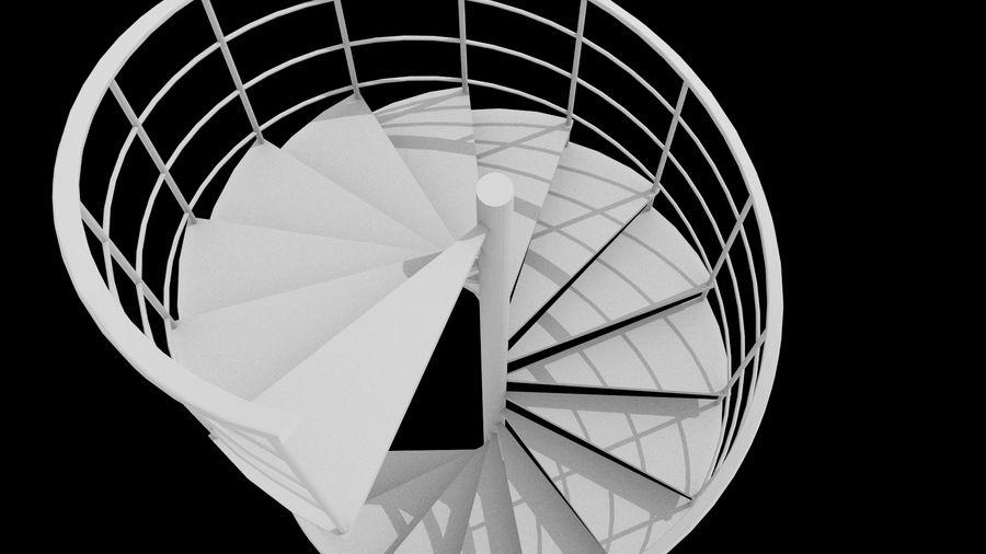Scala a chiocciola royalty-free 3d model - Preview no. 3