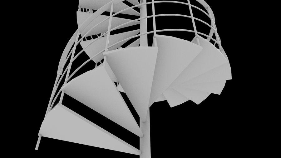 Scala a chiocciola royalty-free 3d model - Preview no. 4