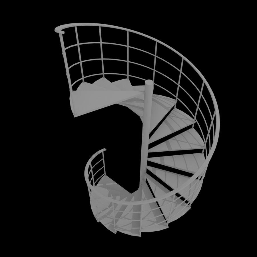 Scala a chiocciola royalty-free 3d model - Preview no. 1