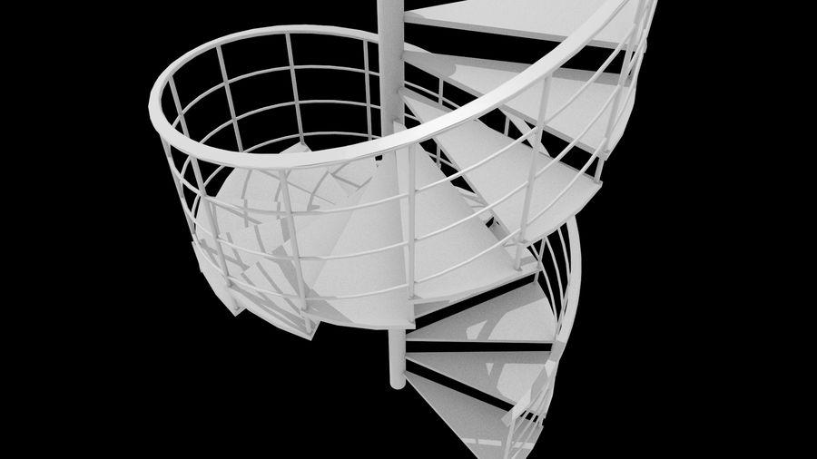 Scala a chiocciola royalty-free 3d model - Preview no. 5