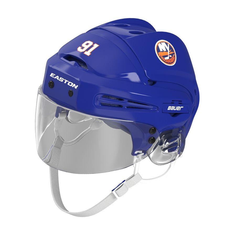 Hockey Helmet Islanders royalty-free 3d model - Preview no. 5