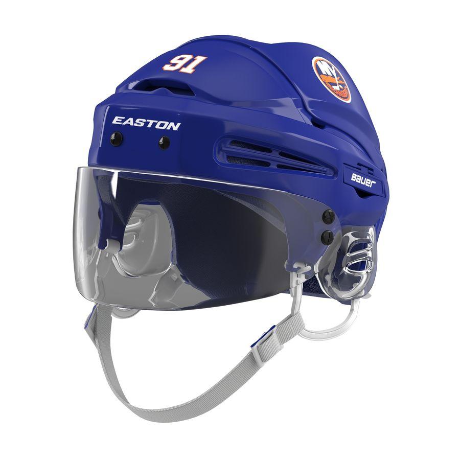 Hockey Helmet Islanders royalty-free 3d model - Preview no. 2
