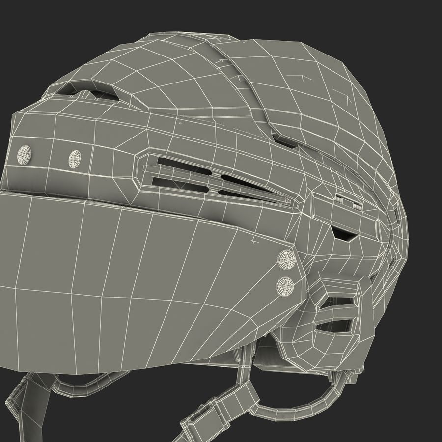 Hockey Helmet Islanders royalty-free 3d model - Preview no. 34