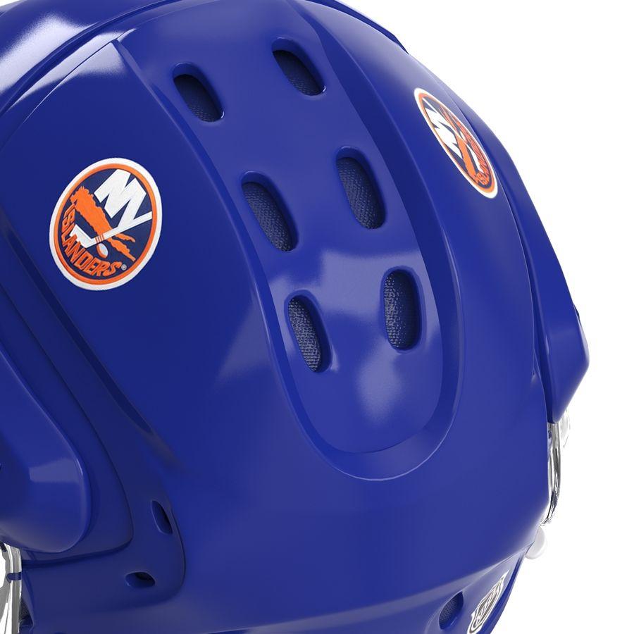 Hockey Helmet Islanders royalty-free 3d model - Preview no. 21