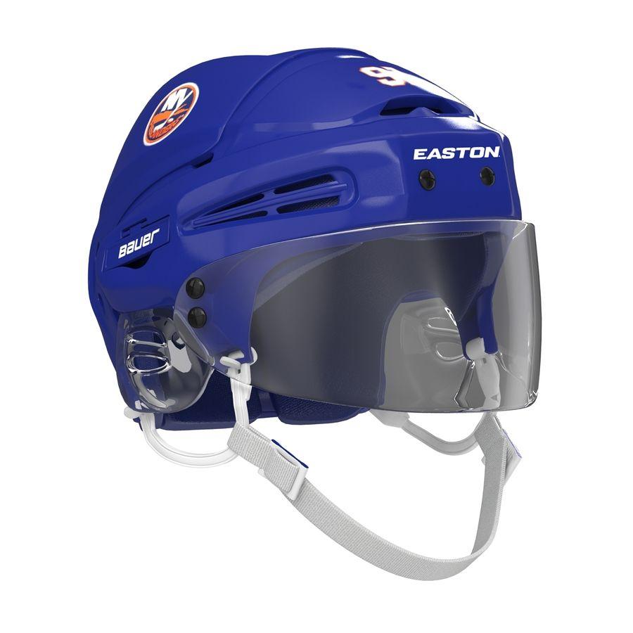 Hockey Helmet Islanders royalty-free 3d model - Preview no. 6