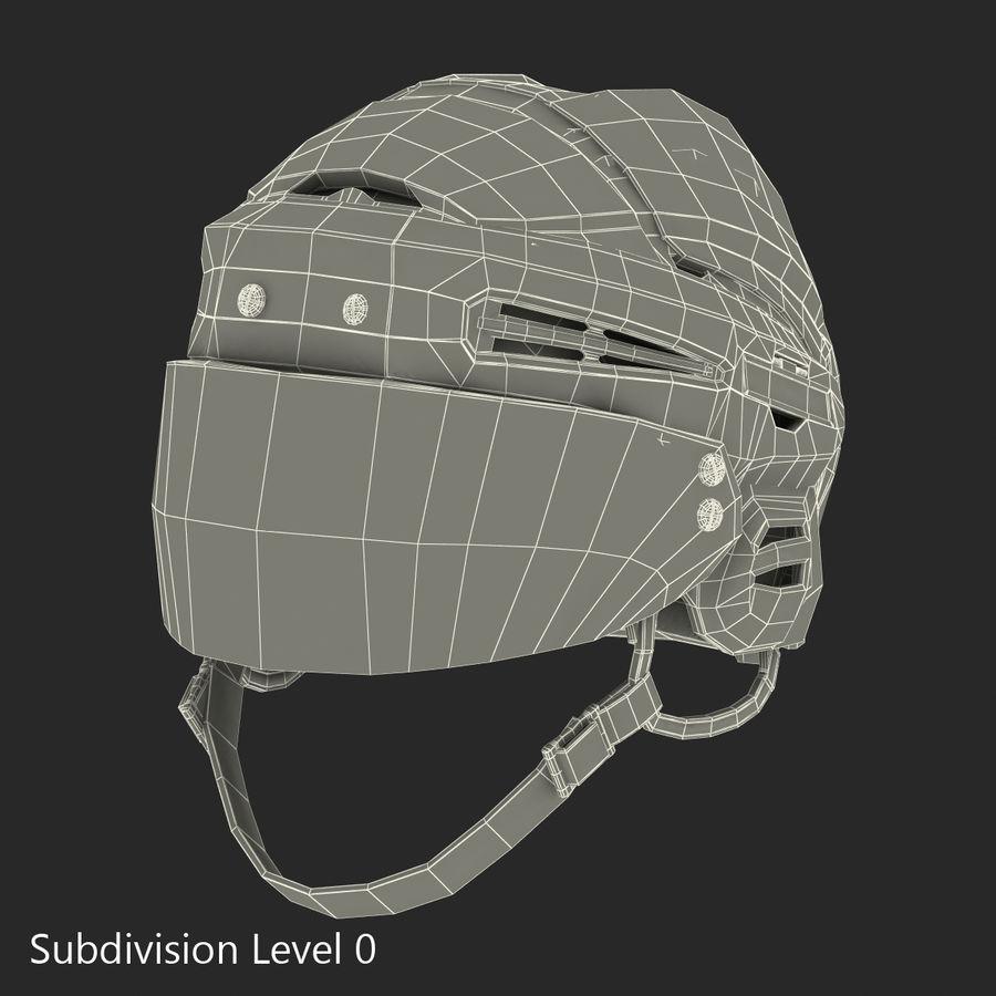 Hockey Helmet Islanders royalty-free 3d model - Preview no. 24