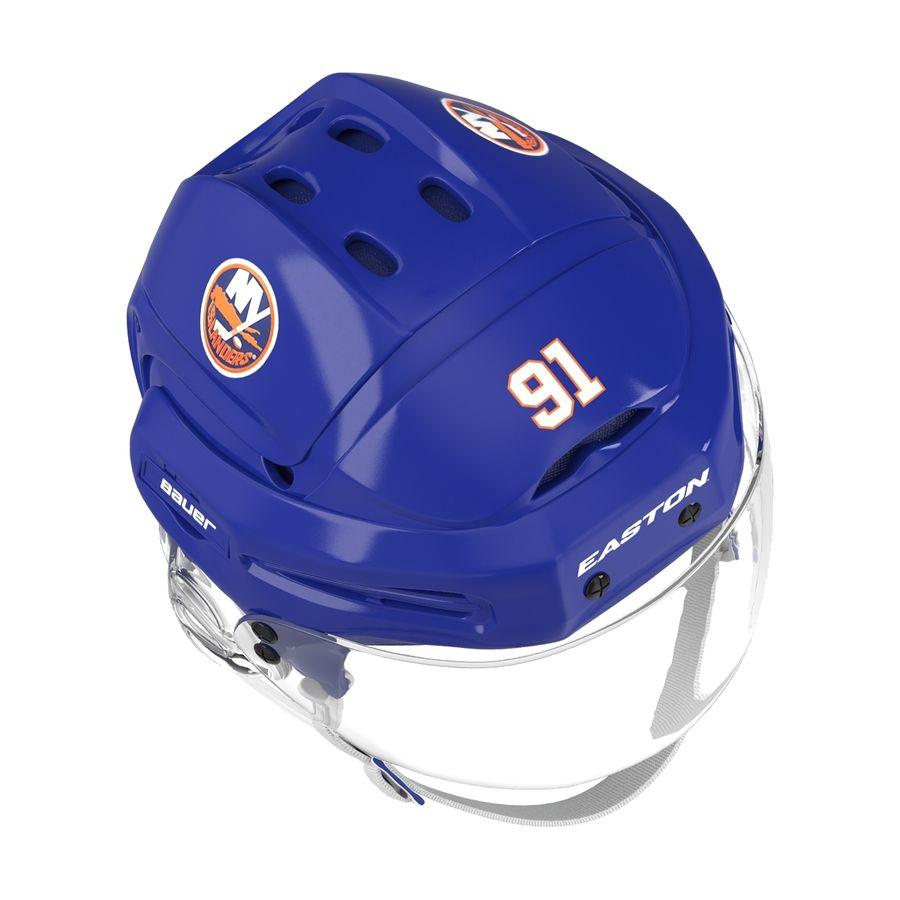 Hockey Helmet Islanders royalty-free 3d model - Preview no. 3