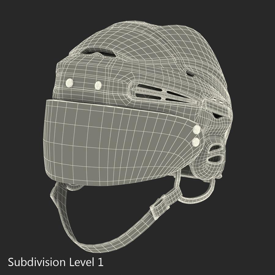 Hockey Helmet Islanders royalty-free 3d model - Preview no. 25