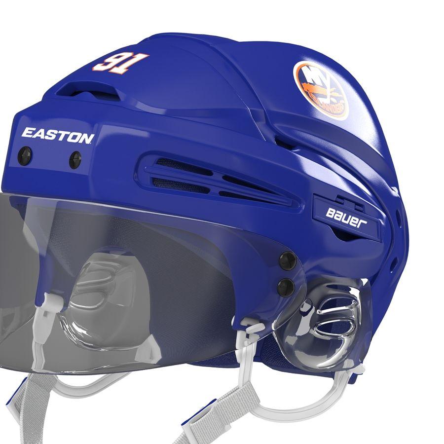 Hockey Helmet Islanders royalty-free 3d model - Preview no. 13
