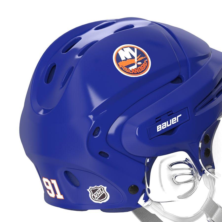 Hockey Helmet Islanders royalty-free 3d model - Preview no. 15