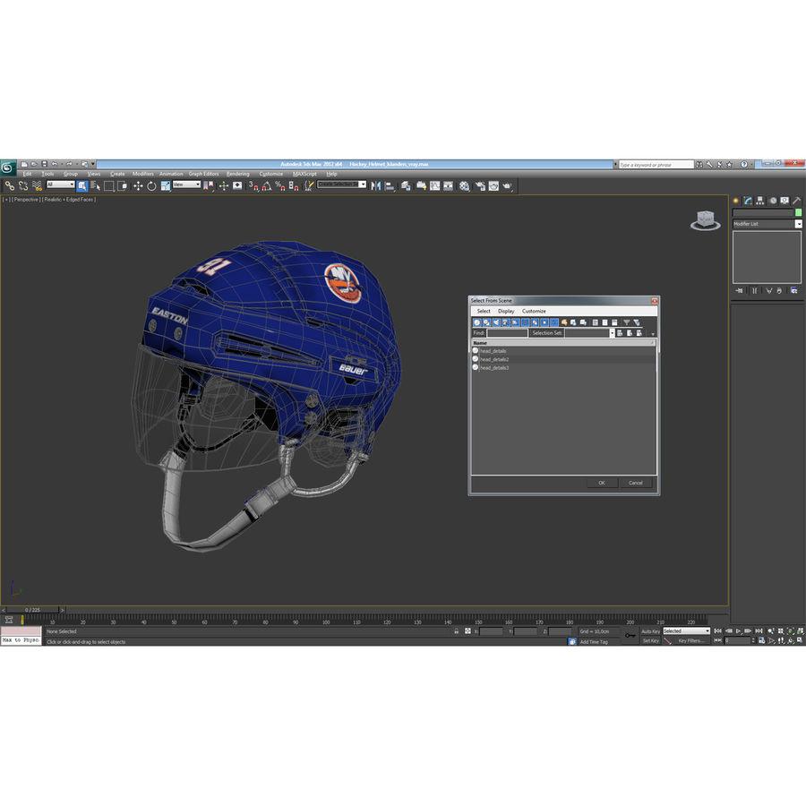 Hockey Helmet Islanders royalty-free 3d model - Preview no. 28