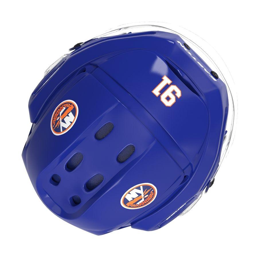 Hockey Helmet Islanders royalty-free 3d model - Preview no. 12