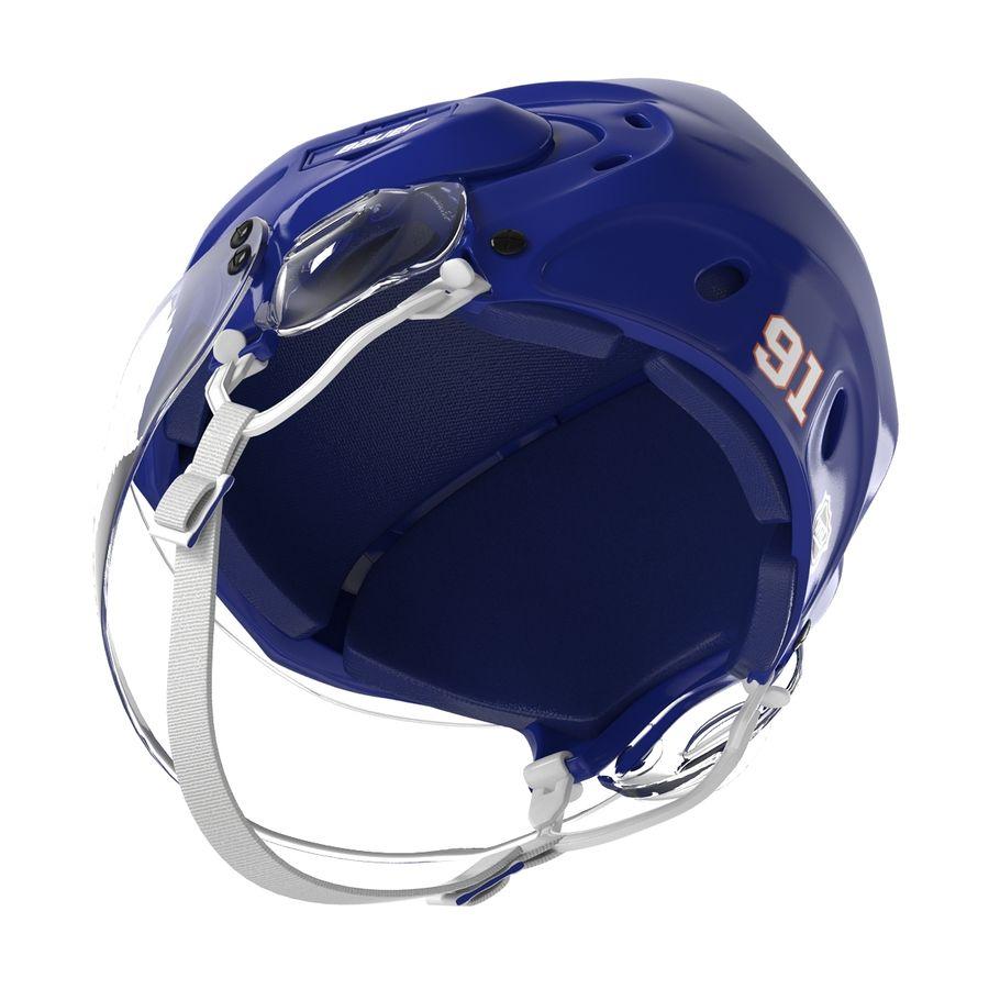 Hockey Helmet Islanders royalty-free 3d model - Preview no. 4