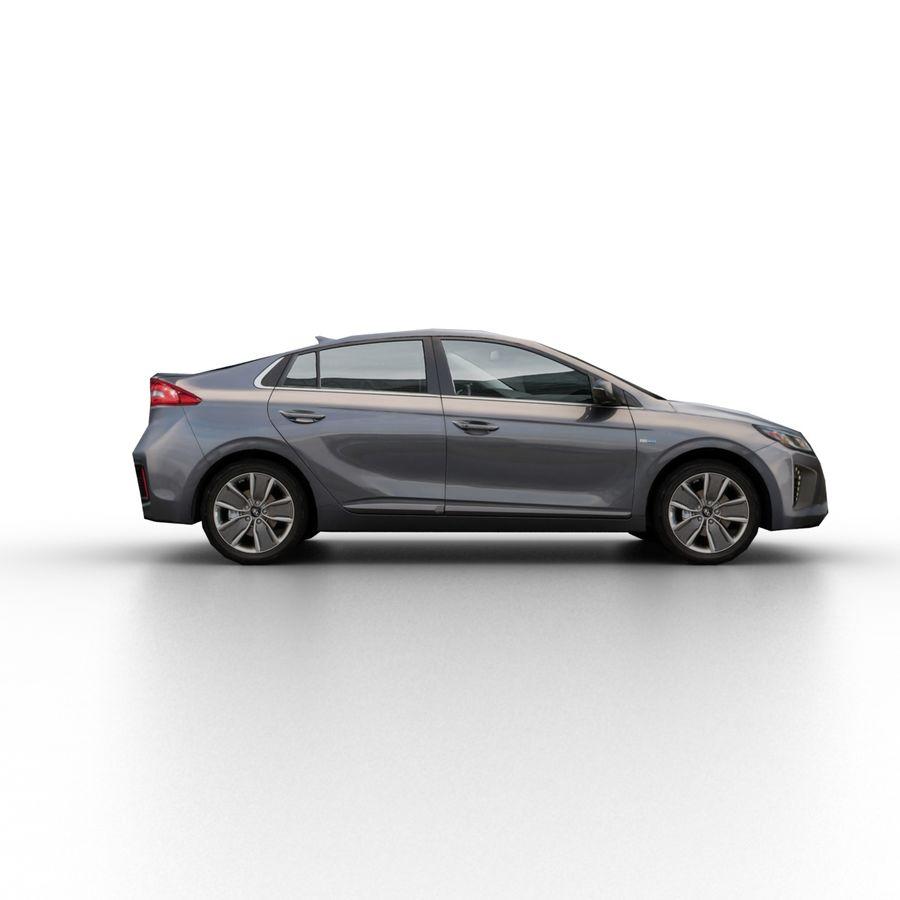 现代Ioniq Hybrid 2017 royalty-free 3d model - Preview no. 3