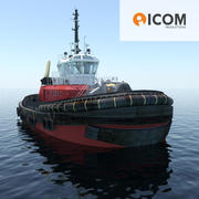 Tugboat type Z-Peller 30m length 3d model