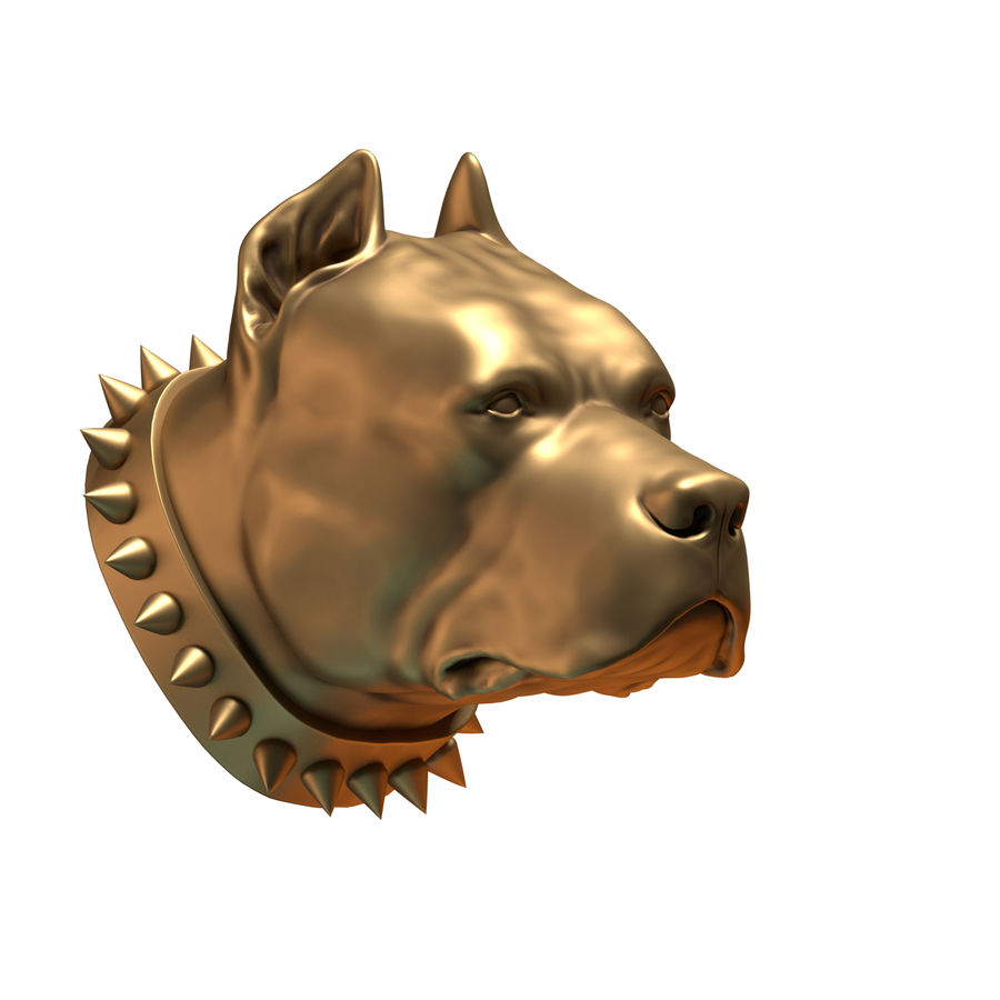 hoofd pitbull royalty-free 3d model - Preview no. 3