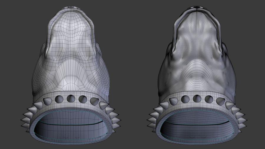 голова питбуля royalty-free 3d model - Preview no. 7
