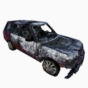 Car Burned Low Poly 3d model