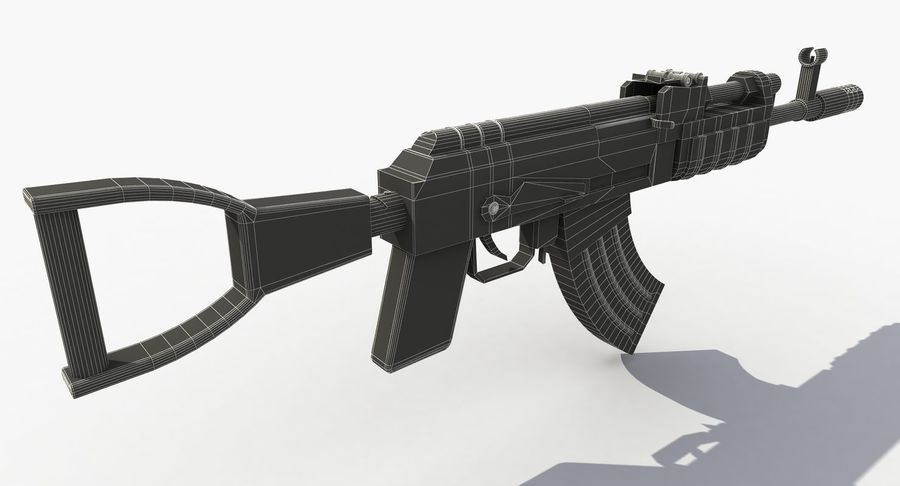 Post Apocalyptic Assault Rifle royalty-free 3d model - Preview no. 11