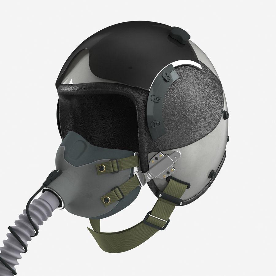 米軍パイロットヘルメット royalty-free 3d model - Preview no. 10