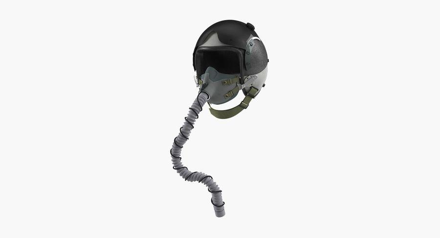 米軍パイロットヘルメット royalty-free 3d model - Preview no. 2