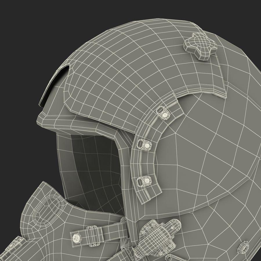 米軍パイロットヘルメット royalty-free 3d model - Preview no. 34
