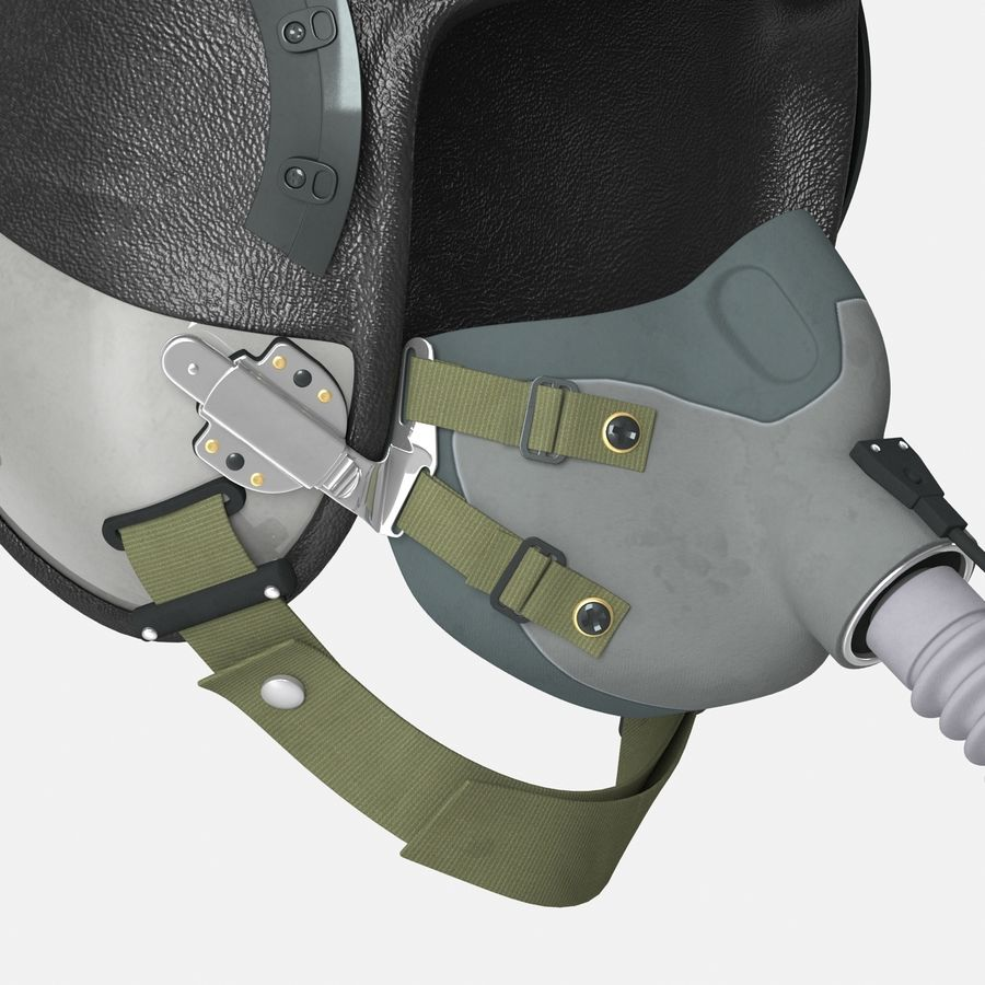 米軍パイロットヘルメット royalty-free 3d model - Preview no. 16