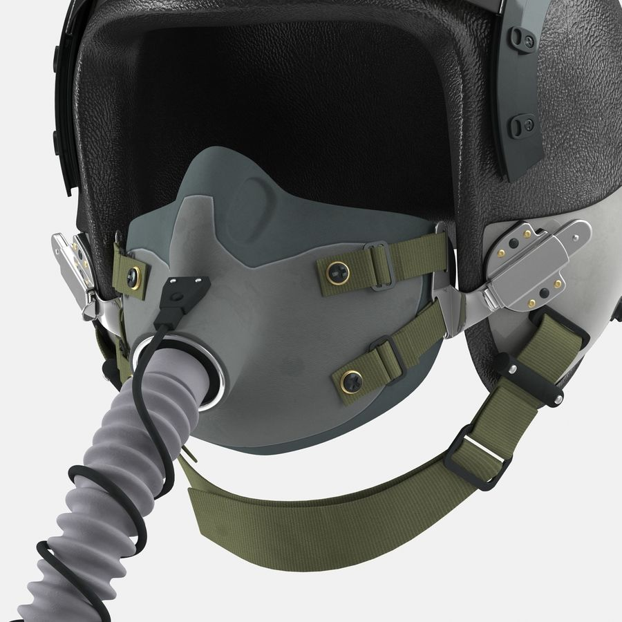 米軍パイロットヘルメット royalty-free 3d model - Preview no. 18