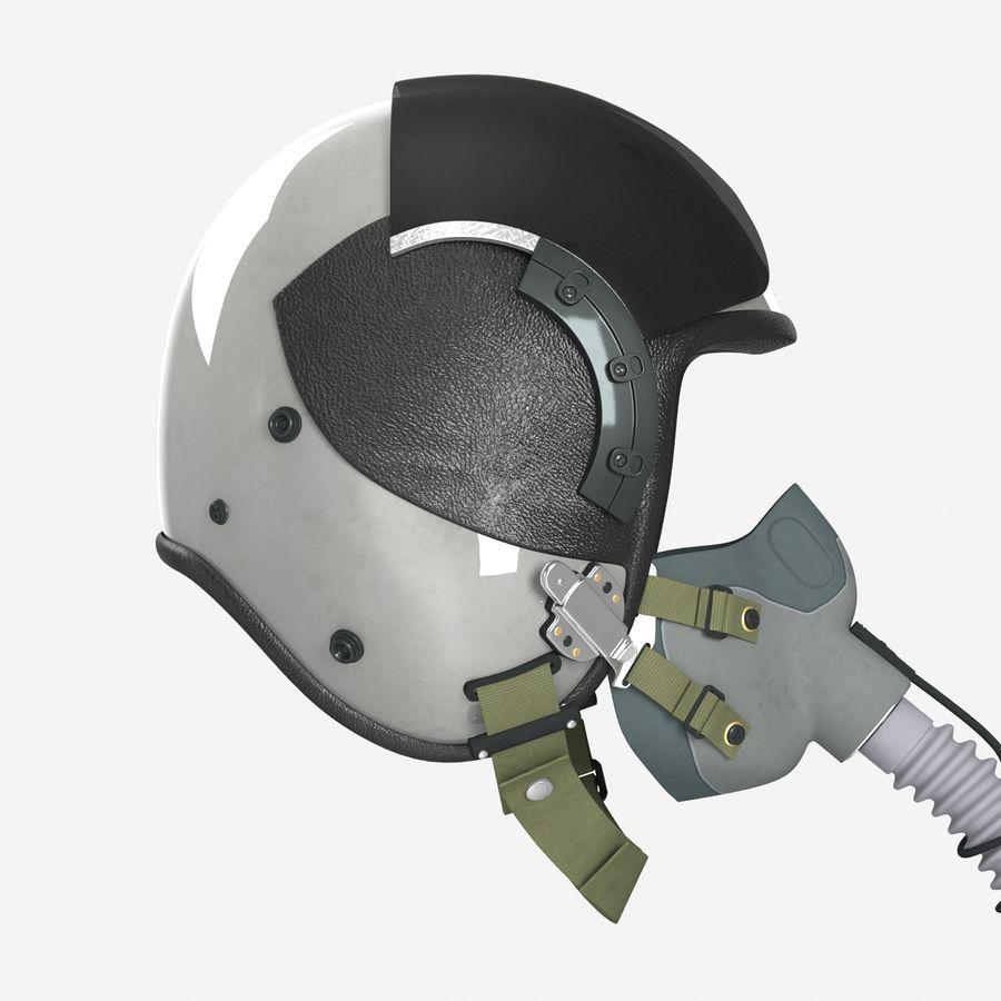 米軍パイロットヘルメット royalty-free 3d model - Preview no. 12